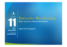 Interactive Broadcasting - Universitas Mercu Buana