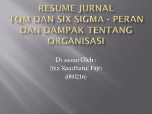 Resume jurnal TQM dan Six Sigma