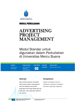 Modul Advertising Project Management [TM2]