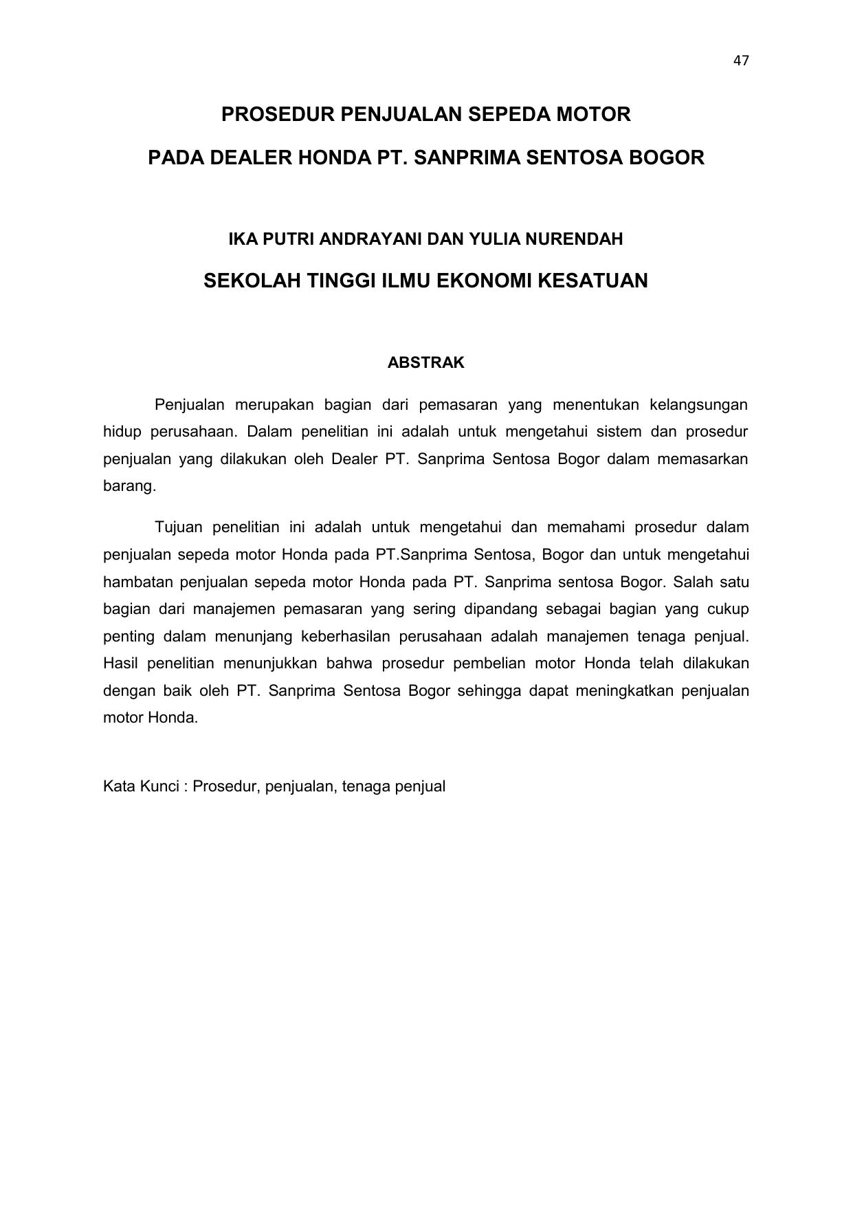 Contoh Laporan Pkl Di Dealer Motor Yamaha Kumpulan Contoh Laporan