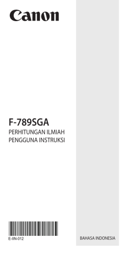 F-789SGA - Canon Electronic Business Machines