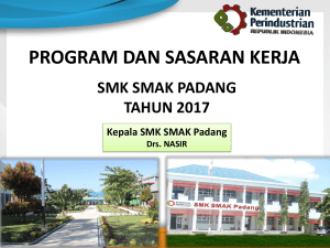 program strategis dan sasaran kinerja - SMK