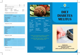 Brosur Diet Diabetes Melitus