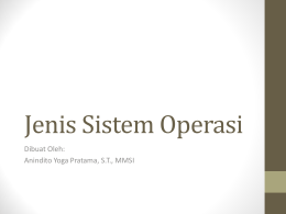 Dasar Sistem Operasi - Official Site of ANINDITO YOGA PRATAMA