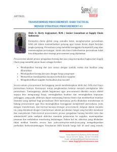 artikel transformasi procurement: dari tactical menuju strategic