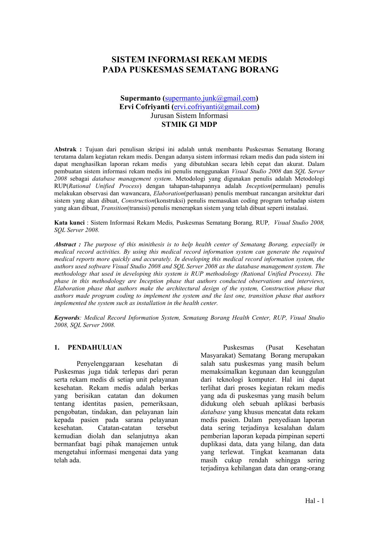 Contoh Skripsi Rekam Medis Contoh Soal Dan Materi Pelajaran 2