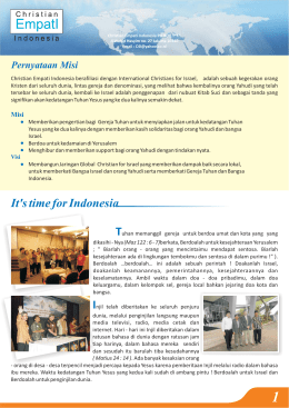 It`s time for Indonesia TI - Christians for Israel International