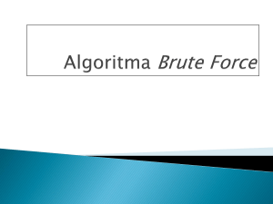 Algoritma Brute Force