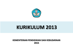 PELATIHAN IMPLEMENTASI KURIKULUM 2013 Problem based