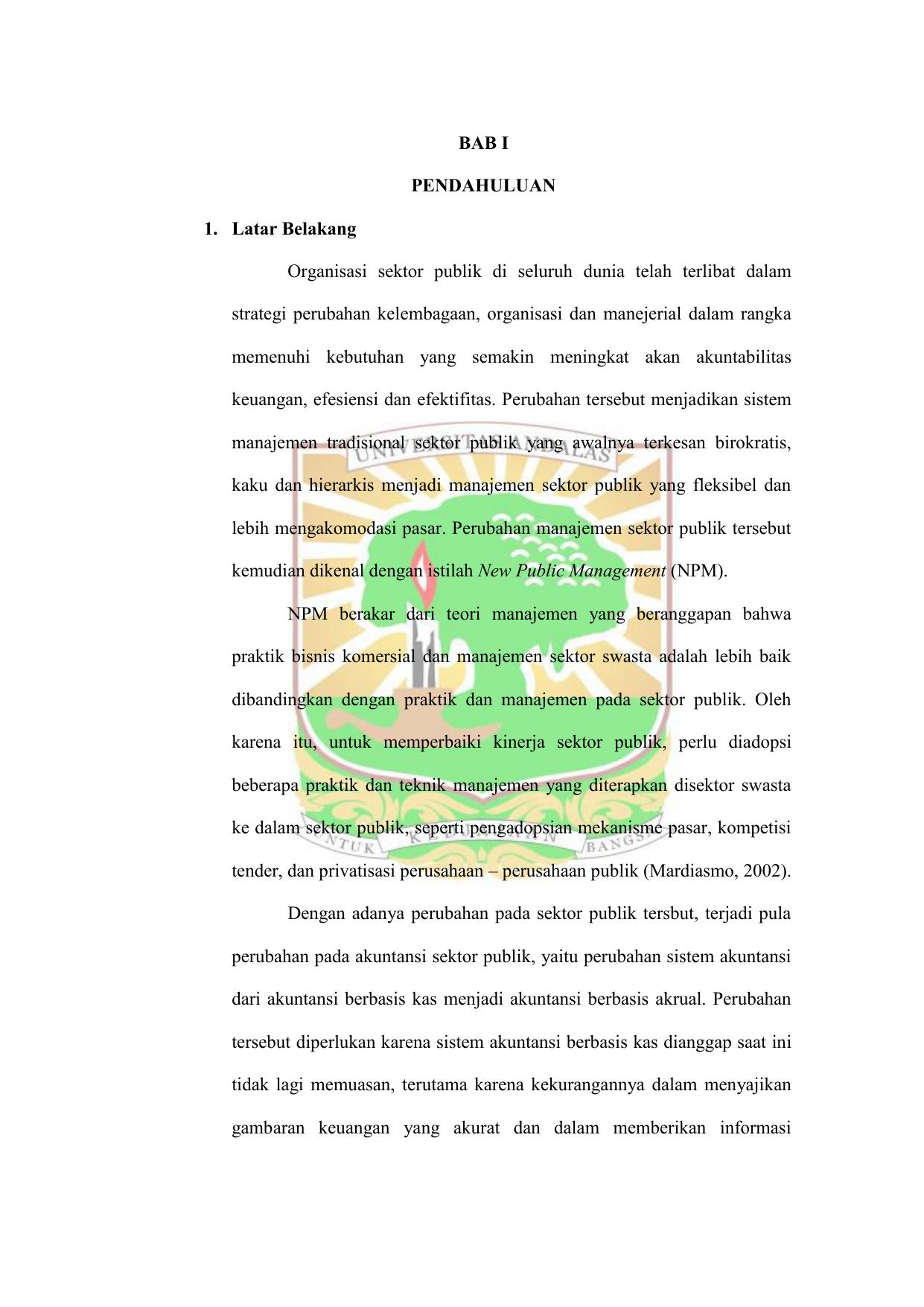 Doc Makalah Akuntansi Manajemen Sektor Publik Ruang Lingkup Akuntansi Manajemen Sektor Publik Haniah Pratiwi Academia Edu