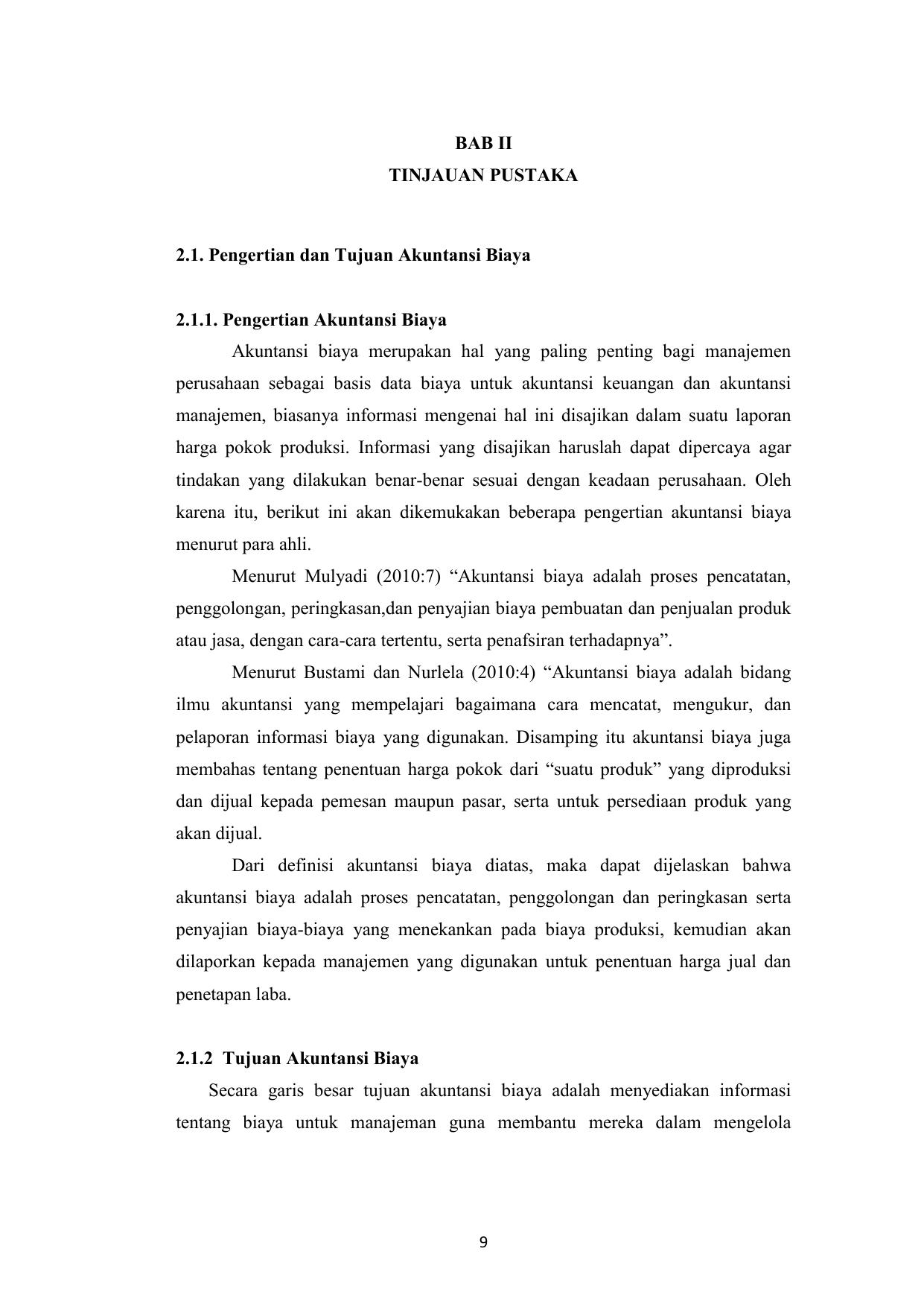 Bab Ii Tinjauan Pustaka 2 1 Pengertian Dan Tujuan Akuntansi