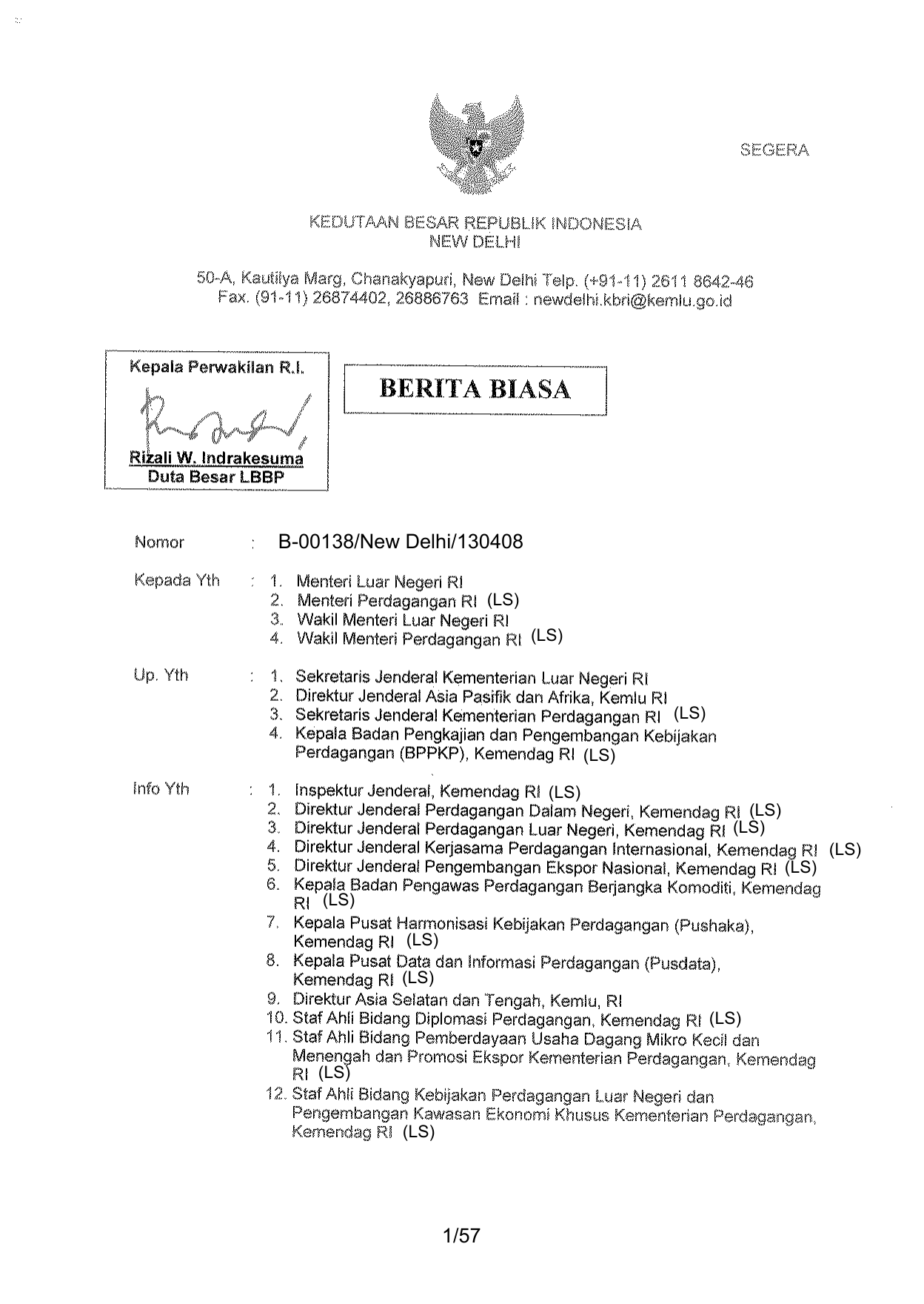 Kementerian Perdagangan Republik Indonesia - Wikipedia bahasa Indonesia, ensiklopedia bebas