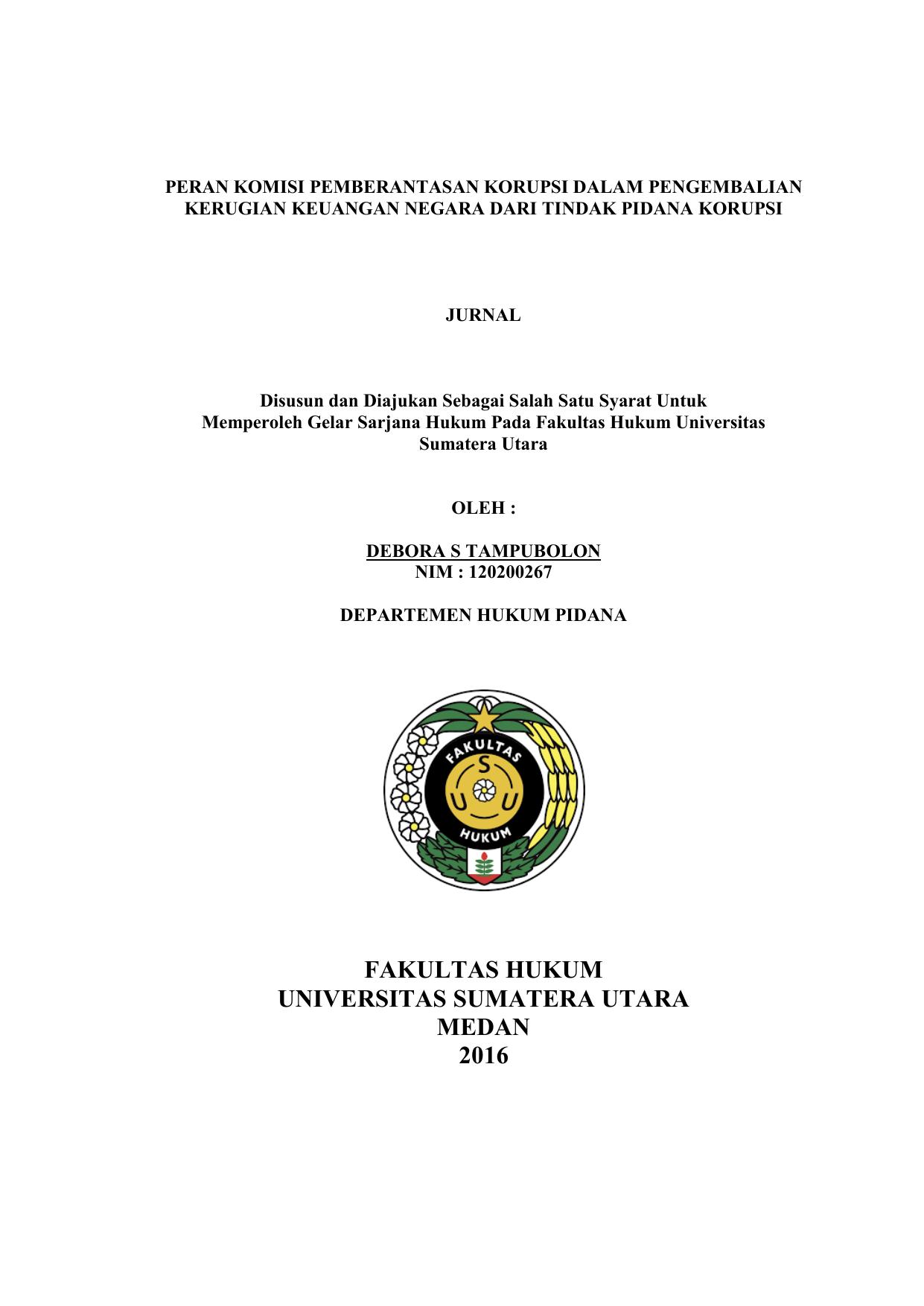 Skripsi Fakultas Hukum Usu Ide Judul Skripsi Universitas