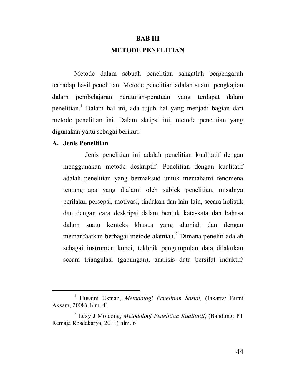 Bab Iii Metode Penelitian Metode Dalam Sebuah Penelitian
