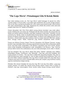 `The Lego Movie`: Petualangan Gila Si Kotak