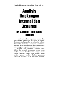 Analisis Lingkungan Internal dan Eksternal - E