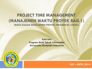 project time management (manajemen waktu