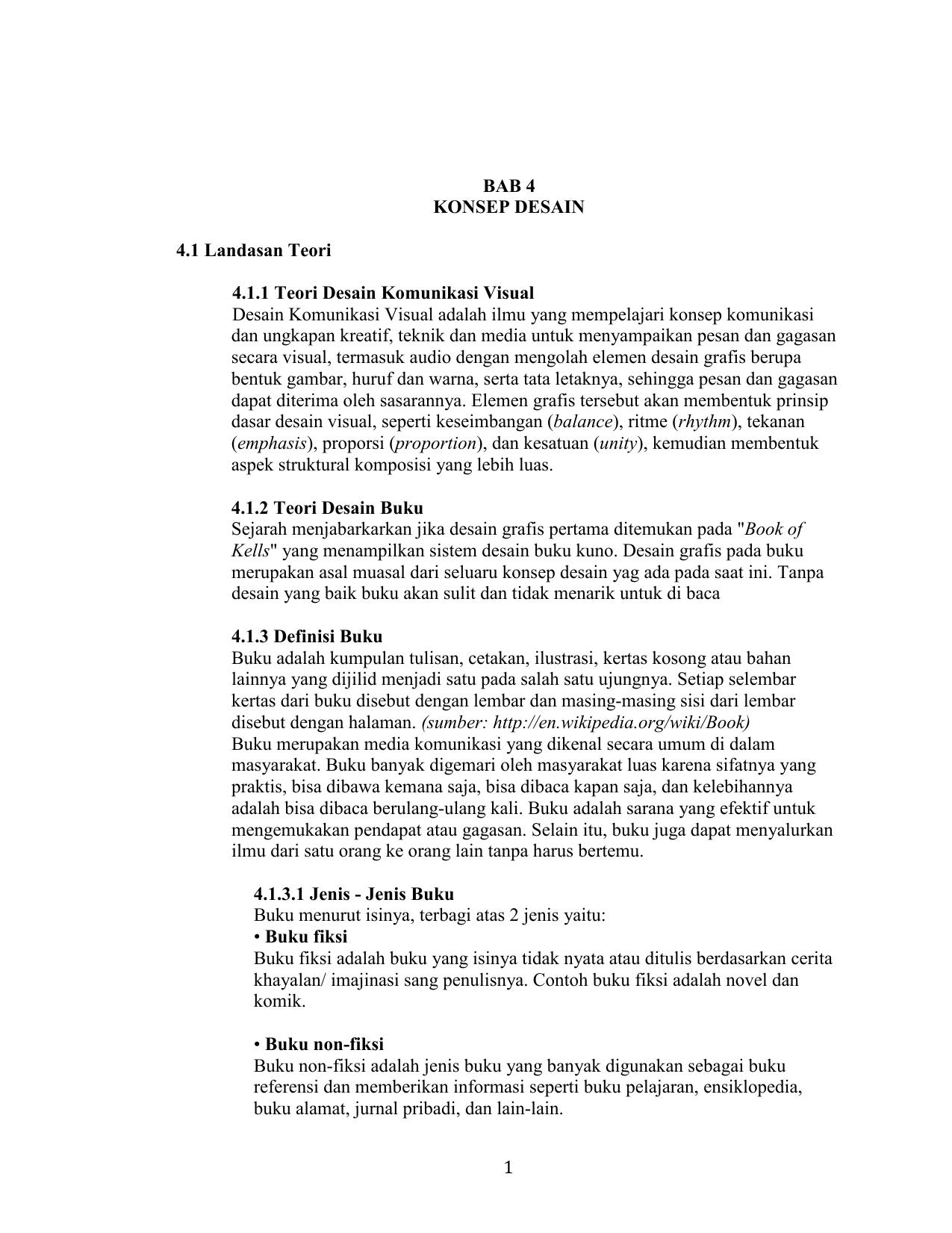 1 Bab 4 Konsep Desain 4 1 Landasan Teori 4 1 1 Teori Desain
