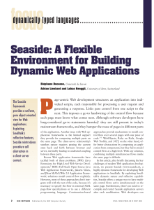 A flexible environment for building dynamic web
