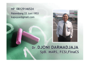 Good clinical governance dalam menunjang produktivitas