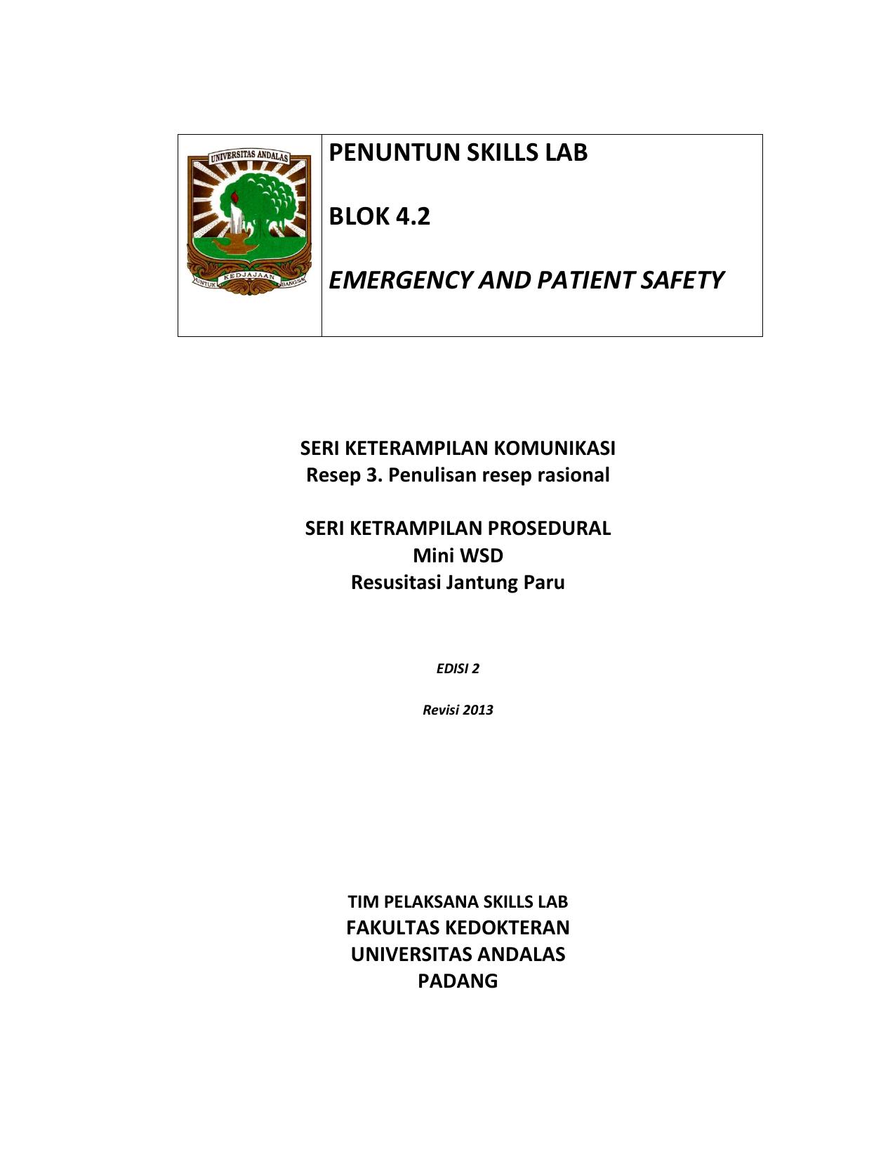 Penuntun Skills Lab Blok 4 2 Emergency And