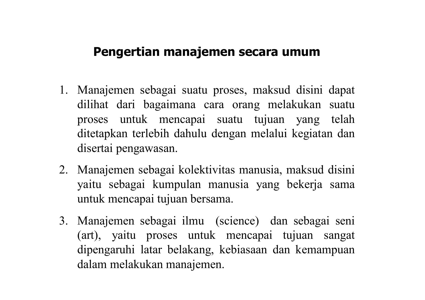 Pengertian manajemen konstruksi menurut para ahli