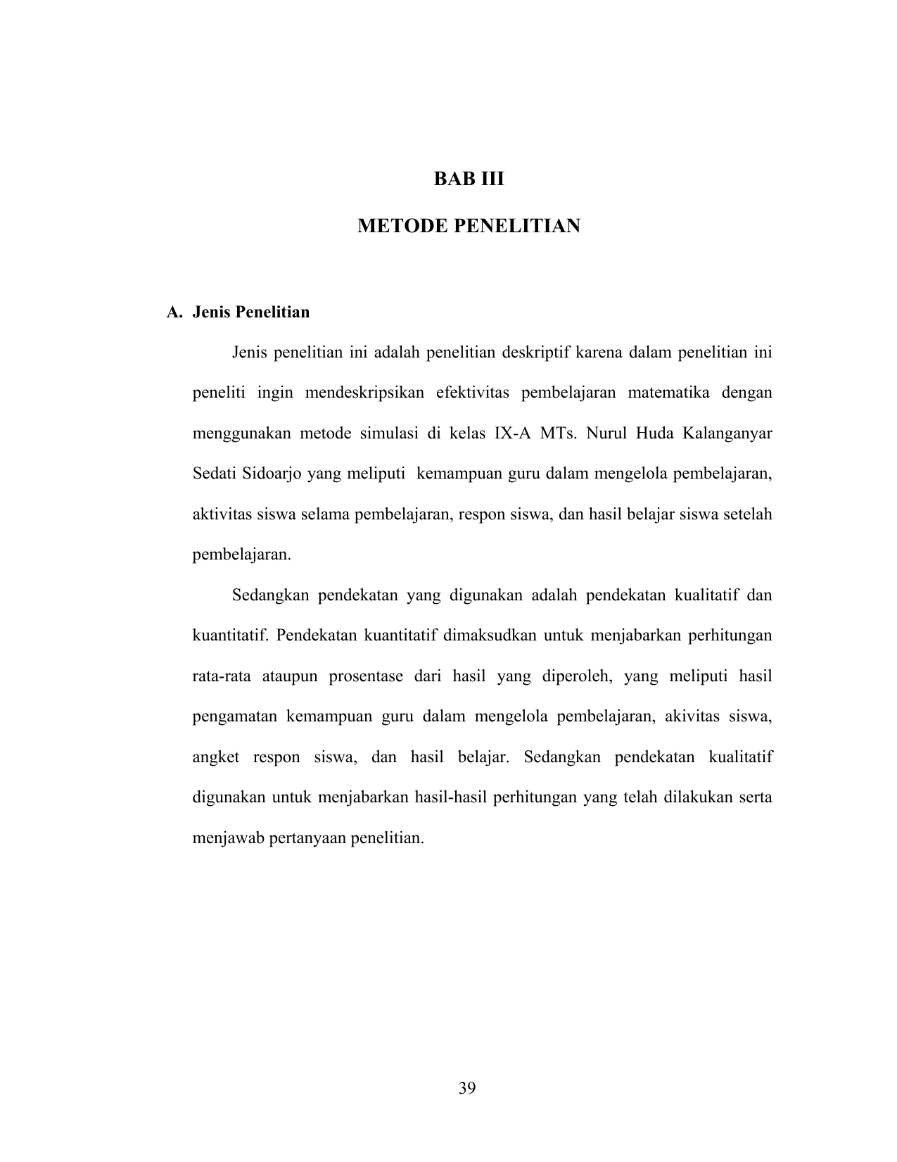 Bab Iii Metode Penelitian Digilib Uin Sunan Ampel Surabaya