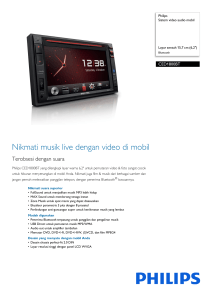 CED1800BT/98 Philips Sistem video audio mobil