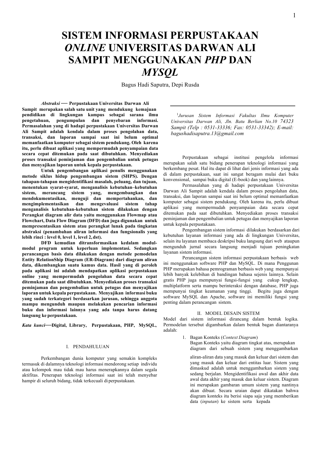 Sistem informasi perpustakaan online universitas darwan ali sampit ccuart Image collections