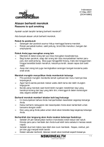 Reasons to quit smoking (Indonesian)