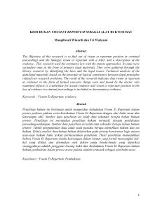 Analisis Kualitas Visum Et Repertum Beberapa Dokter Spesialis