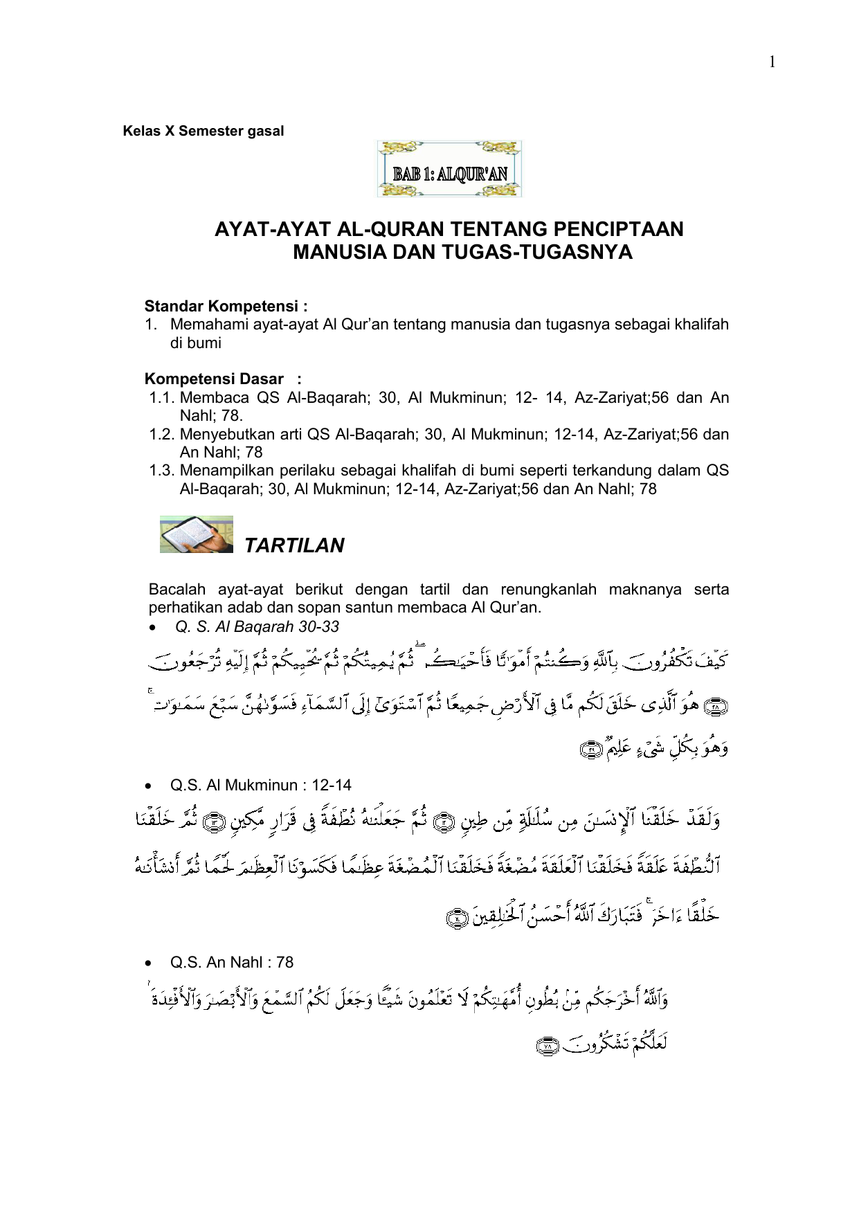 Ayat Ayat Al Quran Tentang Penciptaan Manusia Dan Tugas