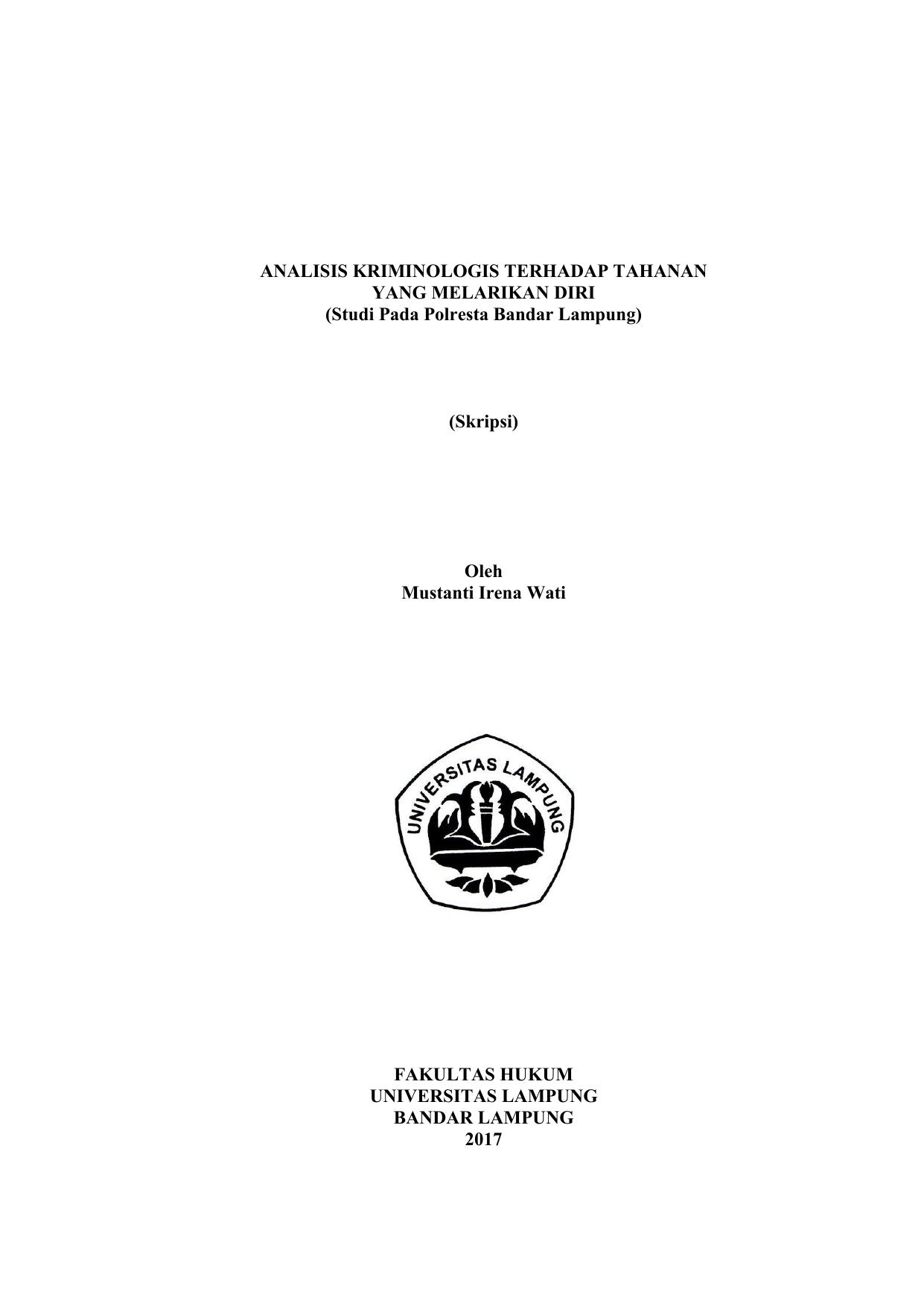 Skripsi Oleh Mustanti Irena Digital Library Unila