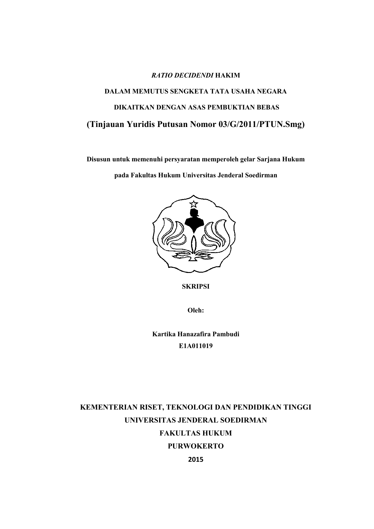 Skripsi Kartika Hanazafira Pambudi