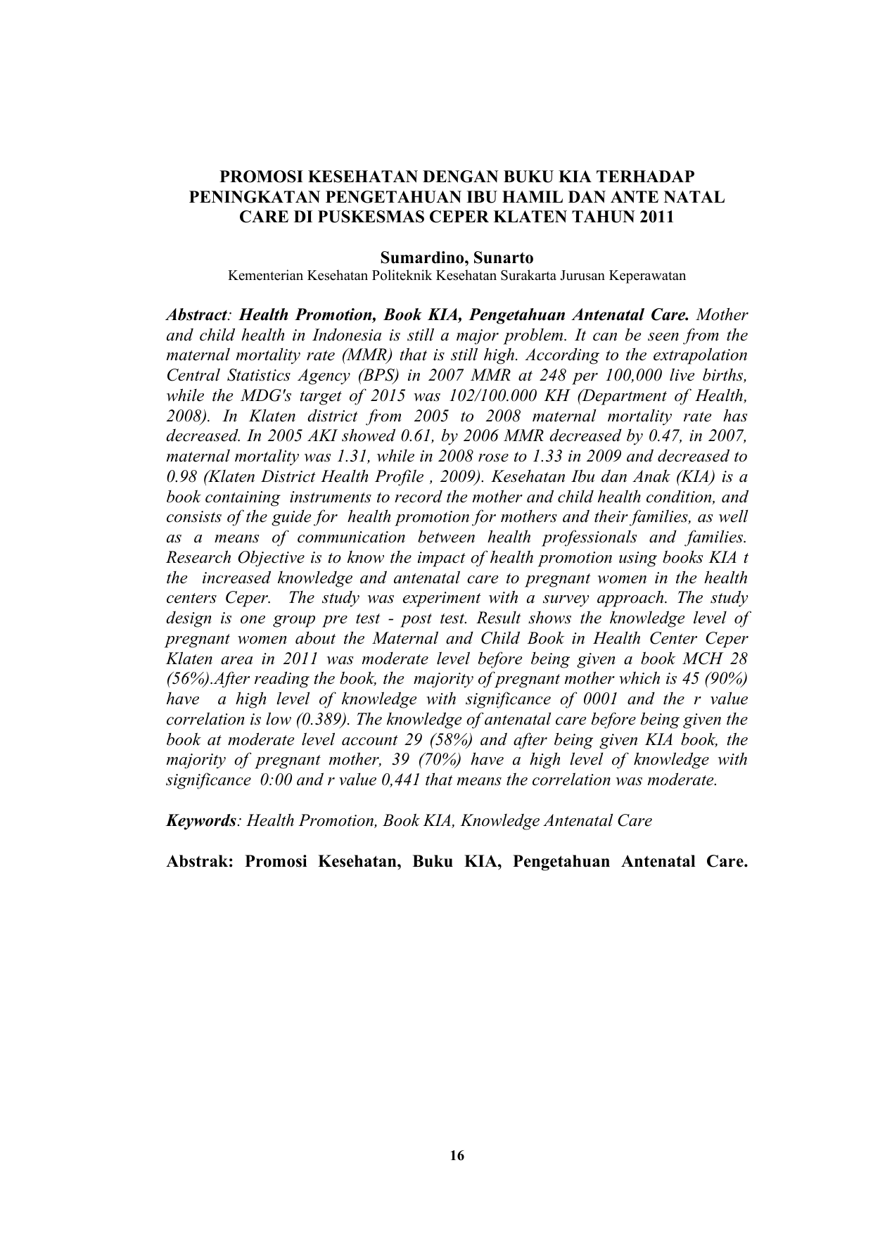 Unduh File Pdf Ini E Jurnal Politeknik Kesehatan Surakarta