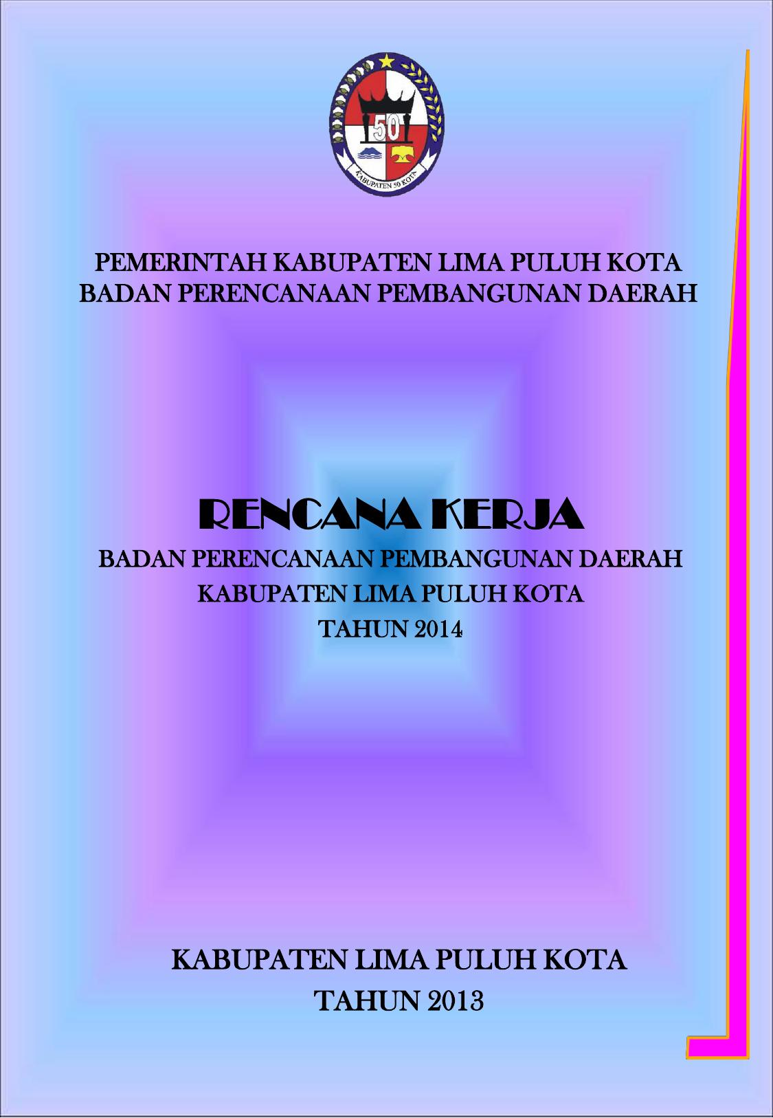 Rencana Kerja Kabupaten Lima Puluh Kota