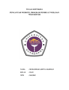 tugas softskill pengantar website, program pembuat web