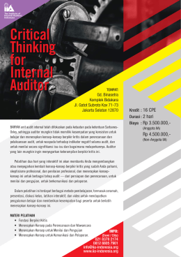 Critical thinking for internal auditor