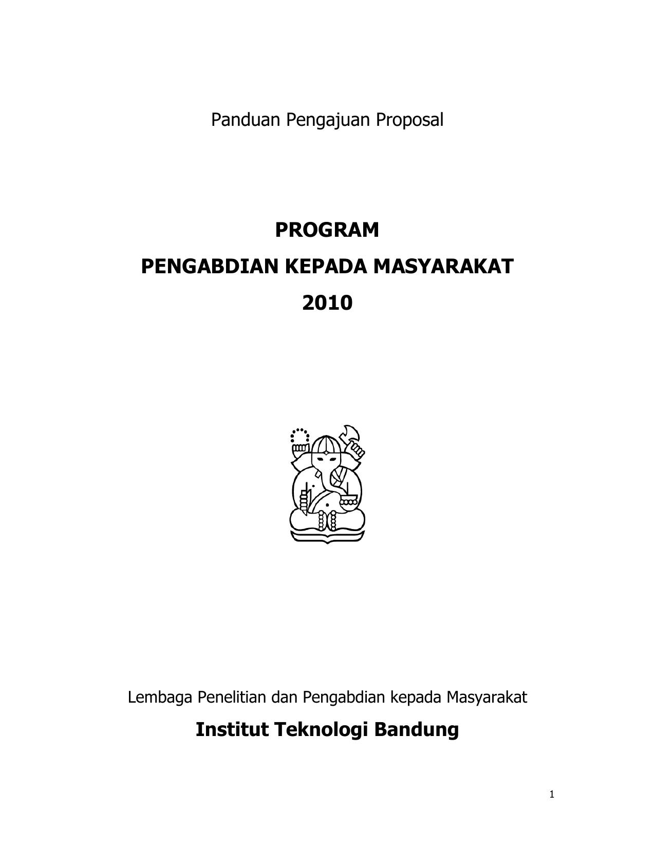 Program Pengabdian Kepada Masyarakat 2010