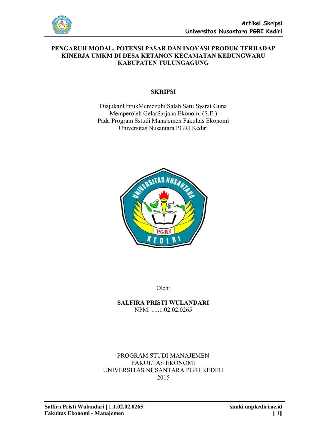 Skripsi Manajemen Keuangan Umkm Pejuang Skripsi