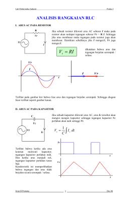 Hubungan fasor untuk r l dan c analisis rangkaian rlc ccuart Gallery