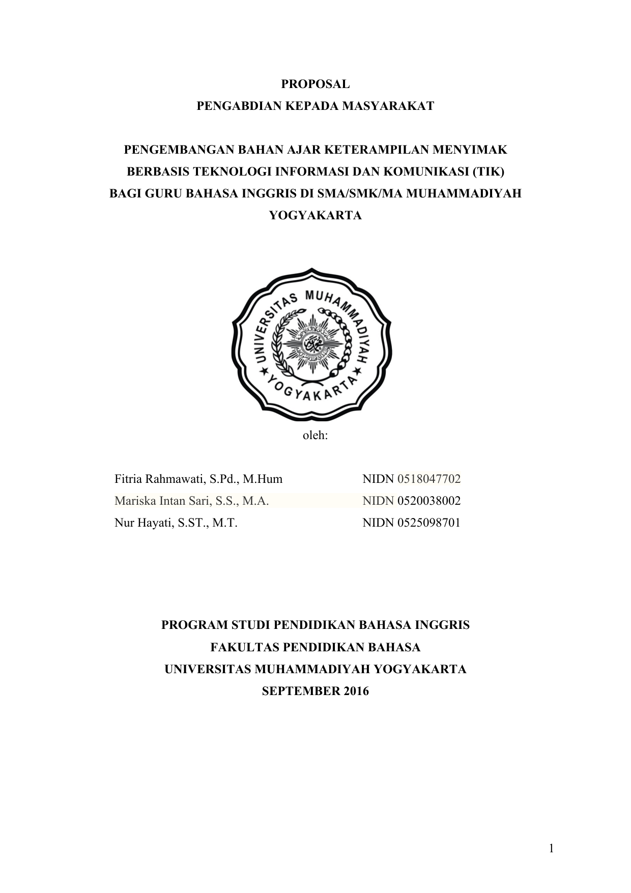 Proposal Pkm Pengembangan Bahan Ajar