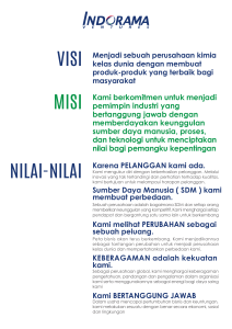 Poster Vision Mission A4 Indonesia