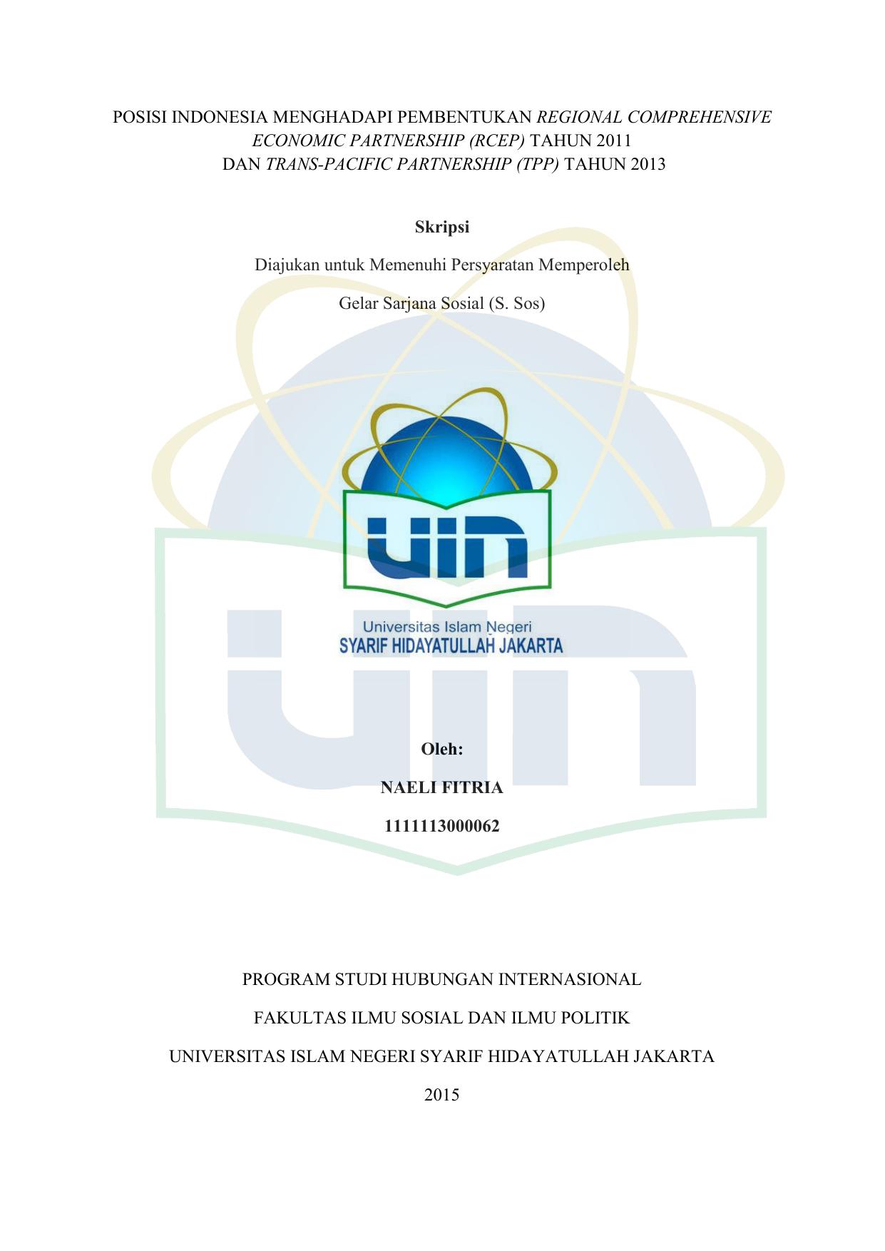 Rcep Repository Uin Jakarta