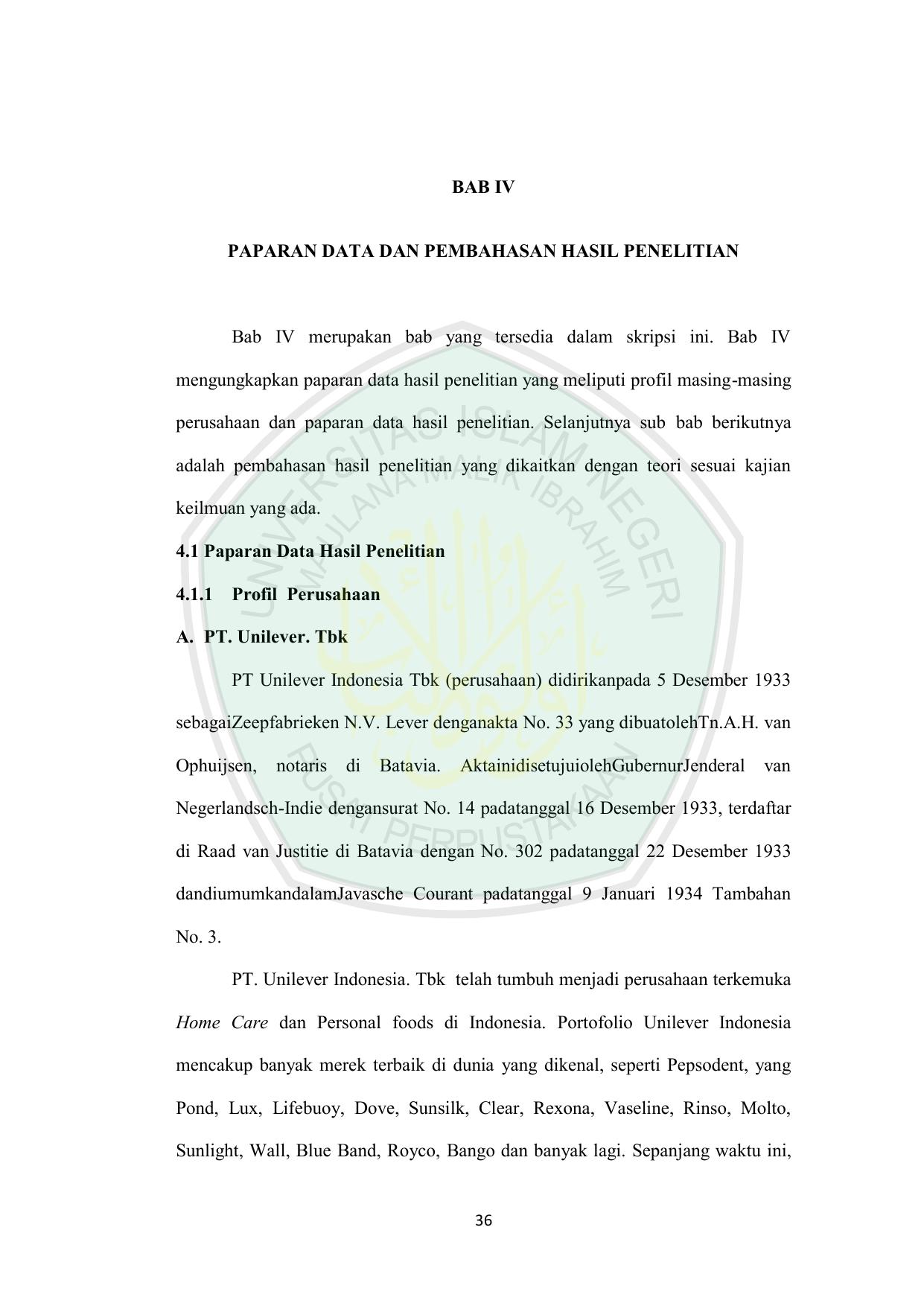 Skripsi Bab 4 Dan 5 Kuantitatif Ide Judul Skripsi Universitas
