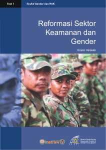 Tool 1 - Security Sector Reform and Gender