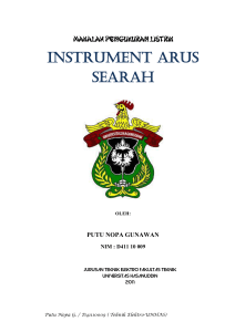 INSTRUMENT ARUS SEARAH