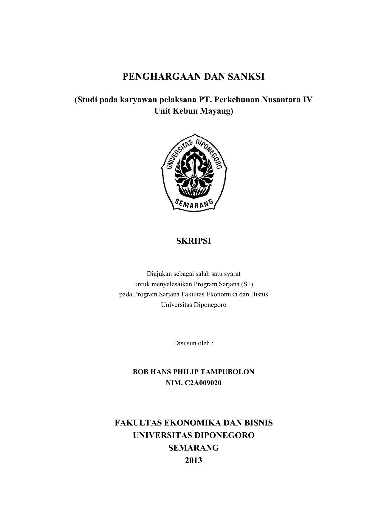 Penghargaan Dan Sanksi Eprints Undip