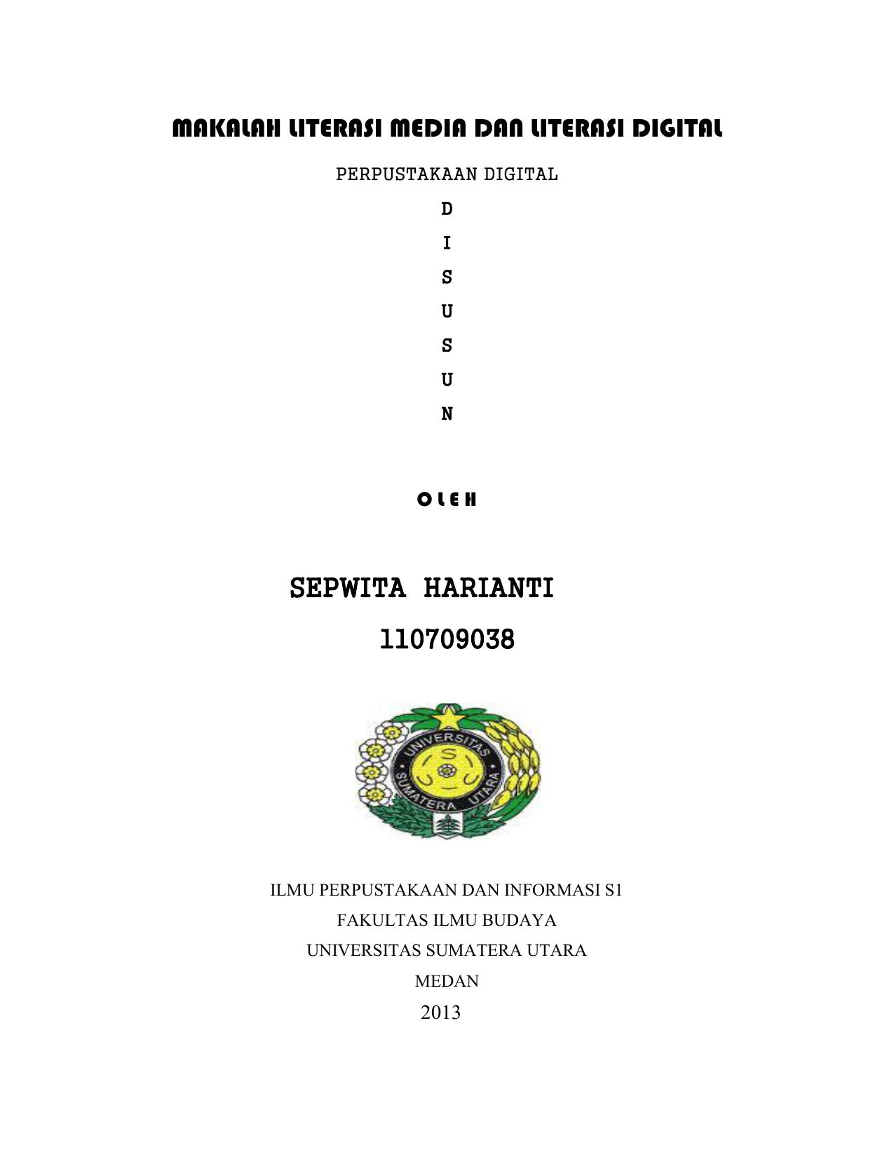 Makalah Literasi Media Dan Literasi Digital Sepwita Harianti 110709038