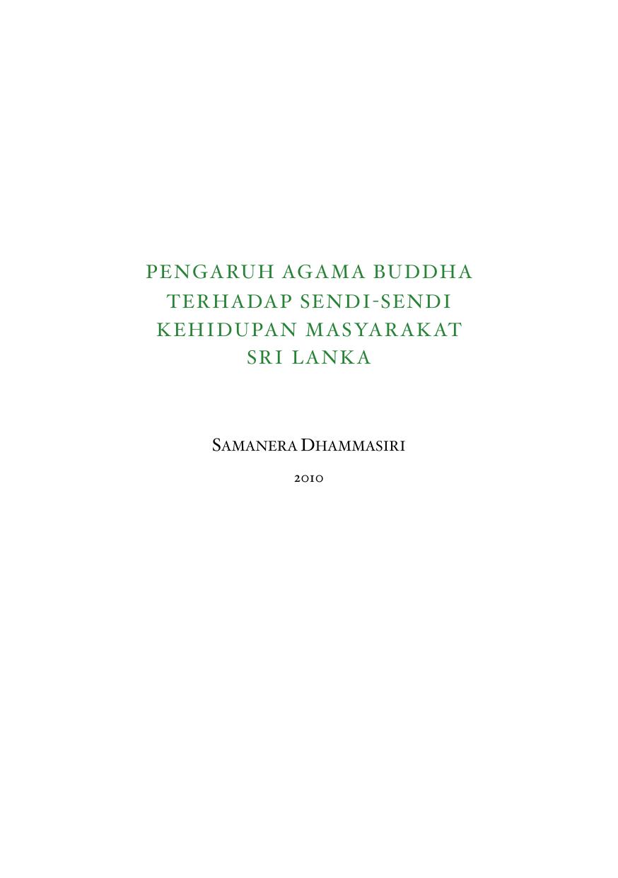 Pengaruh Agama Buddha Terhadap Sendi